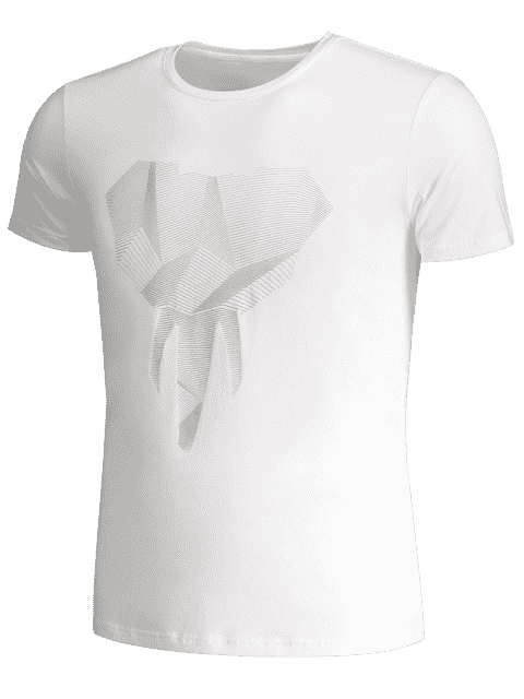 ladies Crewneck Graphic Mens Jersey Tee - WHITE 3XL Mobile