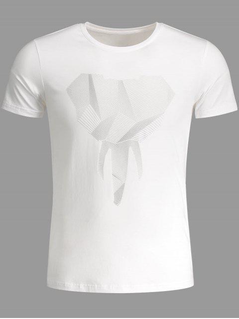 Crewneck Graphic Mens Jersey Tee - Blanc XL Mobile