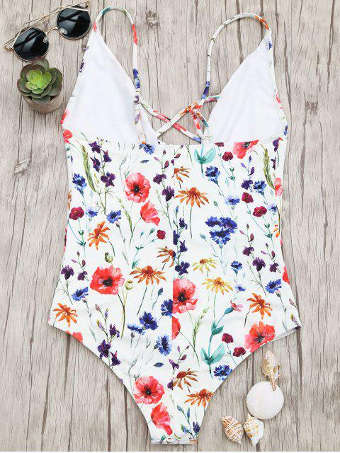 shops Bralette Tiny Floral Strappy Swimwear - FLORAL S Mobile