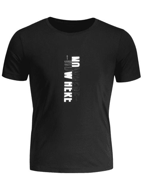women's Mens Crewneck Slogan Graphic Tee - BLACK 2XL Mobile