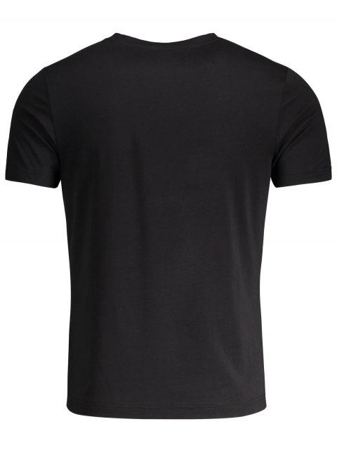 hot Crewneck Graphic Mens Jersey Tee - BLACK 2XL Mobile