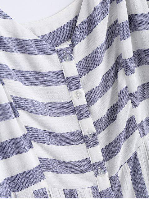 new Button Up Stripes Casual Dress - STRIPE M Mobile