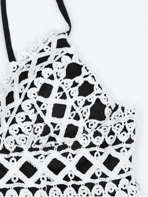 Tablette en crochet rembourrée graphique - Noir L Mobile