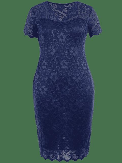 Robe à lacet - Bleu Violet 3XL Mobile