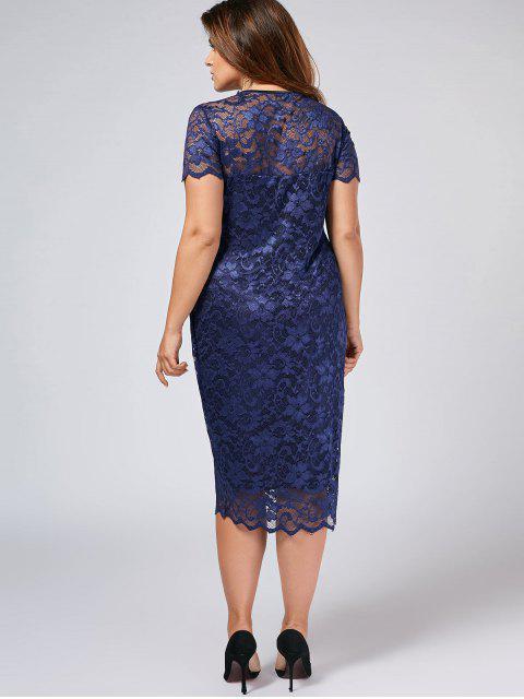 Robe à lacet - Bleu Violet 2XL Mobile