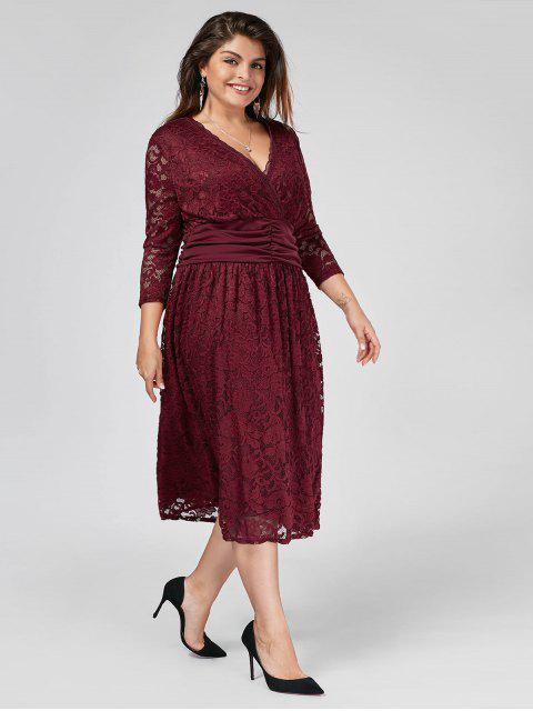 Robe taille taille Empire - Rouge vineux  XL Mobile