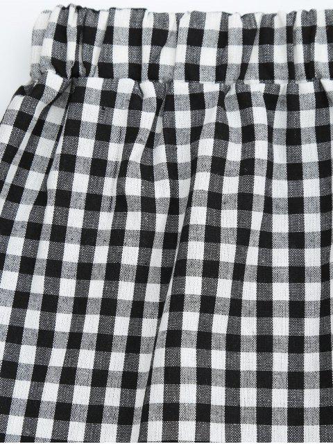 Halter Checked Top et Shorts Set - Carré S Mobile