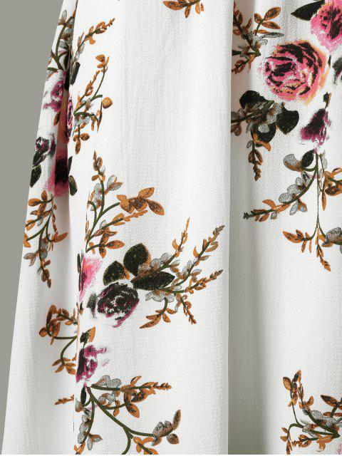 Robe épaule fantaisie mince - Blanc XL Mobile