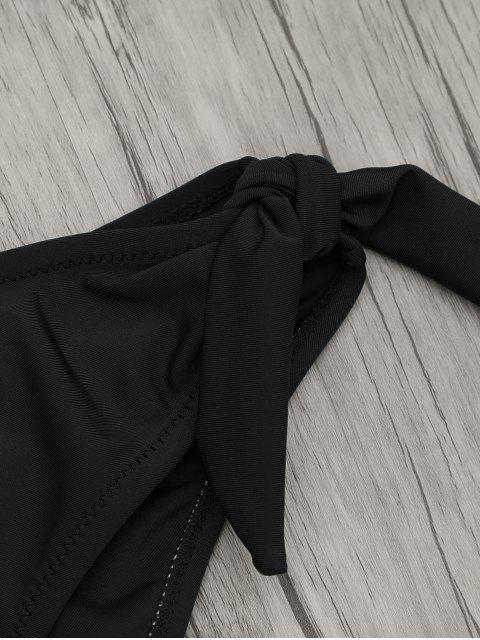 One Piece Cut Out Halter Swimwear - Noir M Mobile