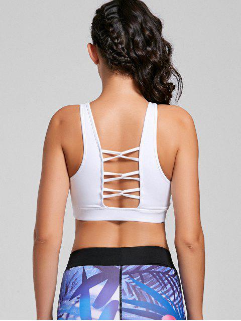Bracelet soutien-gorge strappy rembourré - Blanc M Mobile