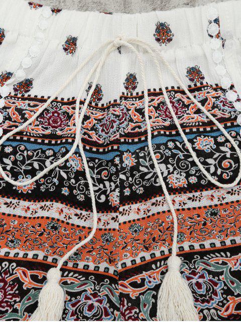 Flounce Tribal Print Top et Shorts Set - Multi L Mobile