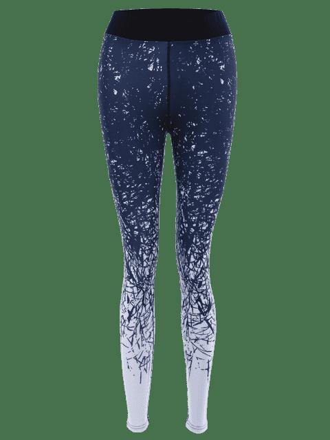 Impression abstraite Leggings de yoga extensibles - Multicolore S Mobile