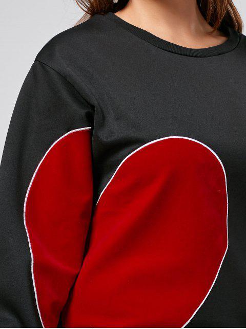 Robe à manches courtes à manches longues - Noir 2XL Mobile
