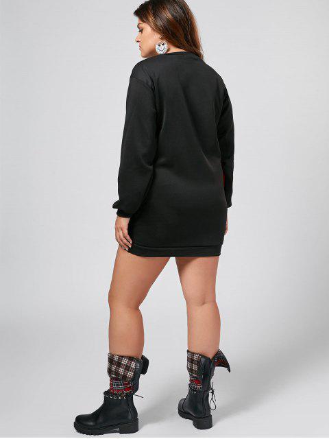 Robe à manches courtes à manches longues - Noir XL Mobile