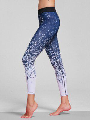 Abstract Print Stretchy Yoga Leggings - M