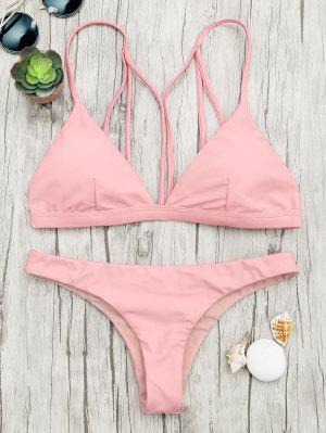 Padded Back Strappy Bathing Suit - Shallow Pink S