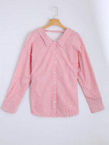 Loose Choker Stripes Shirt - Listras L
