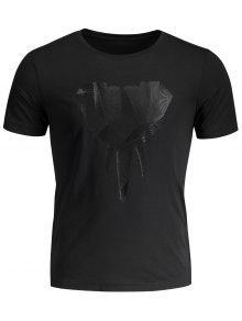 Crewneck Graphic Mens Jersey Tee - Black Xl