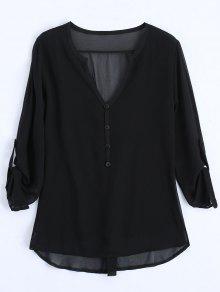 Cuello Blusa En Negro 243;n Xl Embellecido Con V Bot xOUaw6n