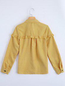 Hem 243;n De Volantes S Bot Imprimi Amarillo De Camisa 243; Para Arriba xdzSq0YwS4