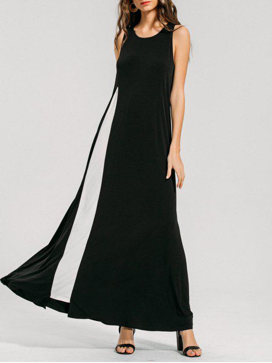 سوينغ اثنين لهجة فستان ماكسي - أسود L