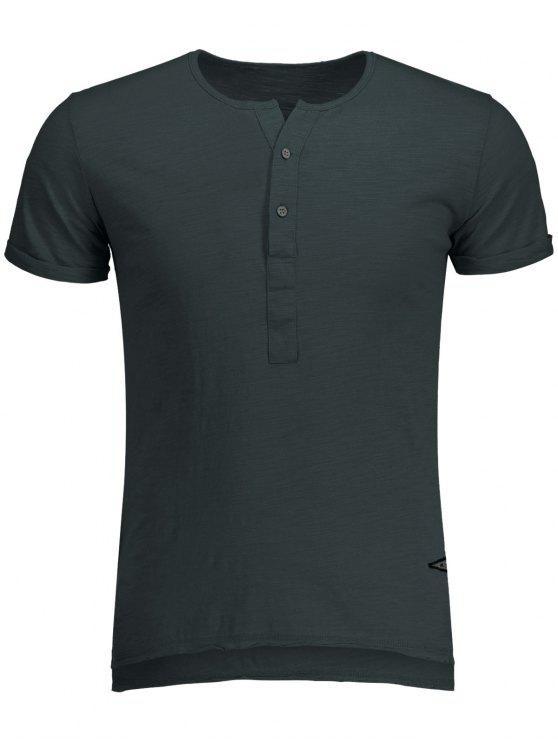 T-shirt Blanc Basique en Coton - gris foncé L