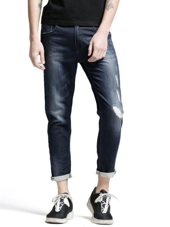 Poches Zip Fiy Worn Jeans - Denim Bleu 34