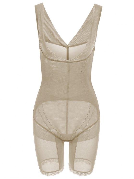 Korsett Bodysuit Shapewear mit Öffnung an der Brust - Fleischfarben XL