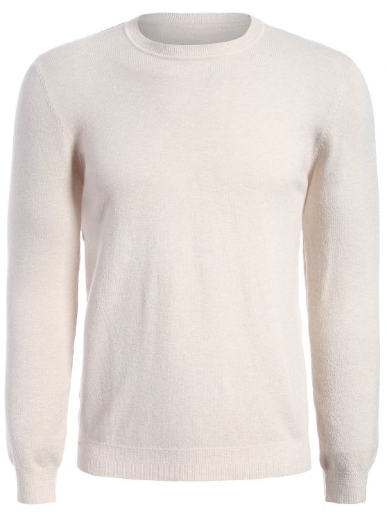 online Long Sleeve Pullover Knitwear - APRICOT XL