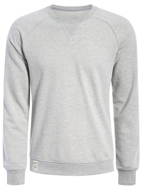 buy Mens Terry Pullover Sweatshirt - GRAY L