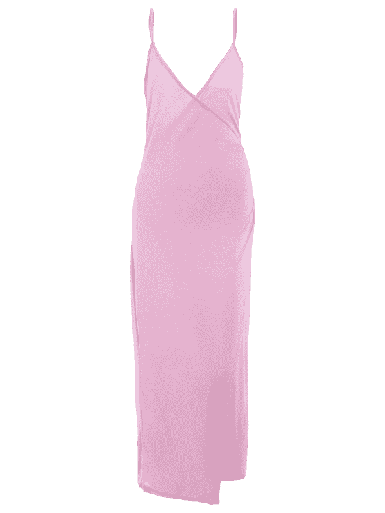 Robe asymetrique rose