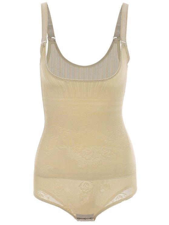 Brustfreier Korsett Shapewear Bodysuit - Fleischfarben L