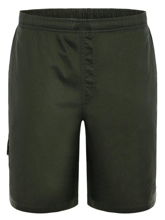 Side Pockets Cargo Bermuda Shorts - Verde XL