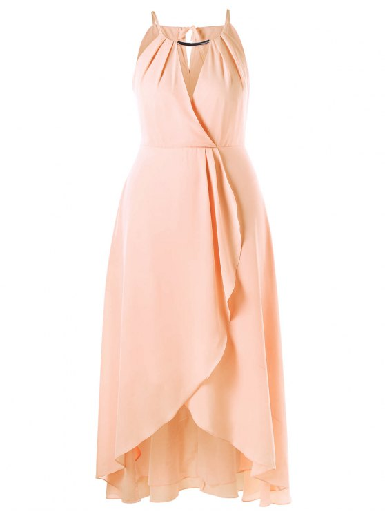 Robe à couper le chevauchement - Rose Abricot 5XL