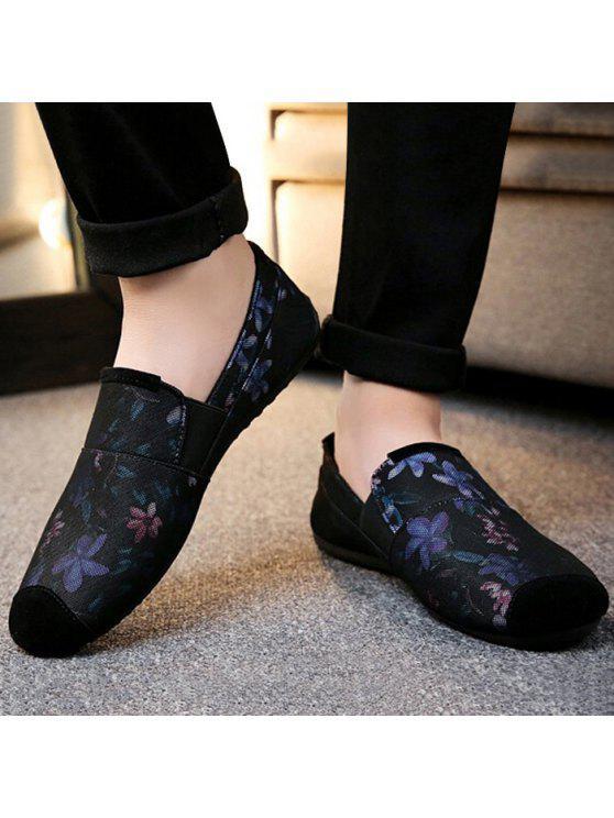 الأزهار طباعة الانزلاق على أحذية رياضية - أرجواني 41