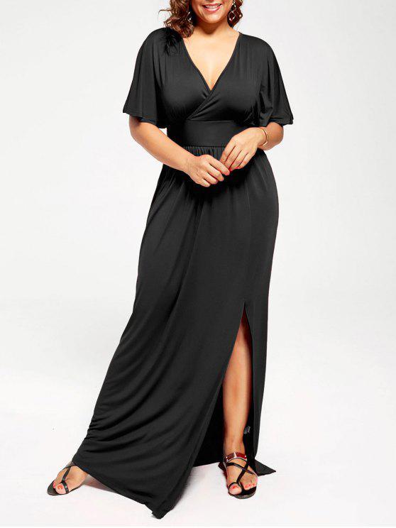 c4f3e4faf28 34% OFF  2019 Plus Size Plunge Neck Maxi High Slit Formal Dress In ...