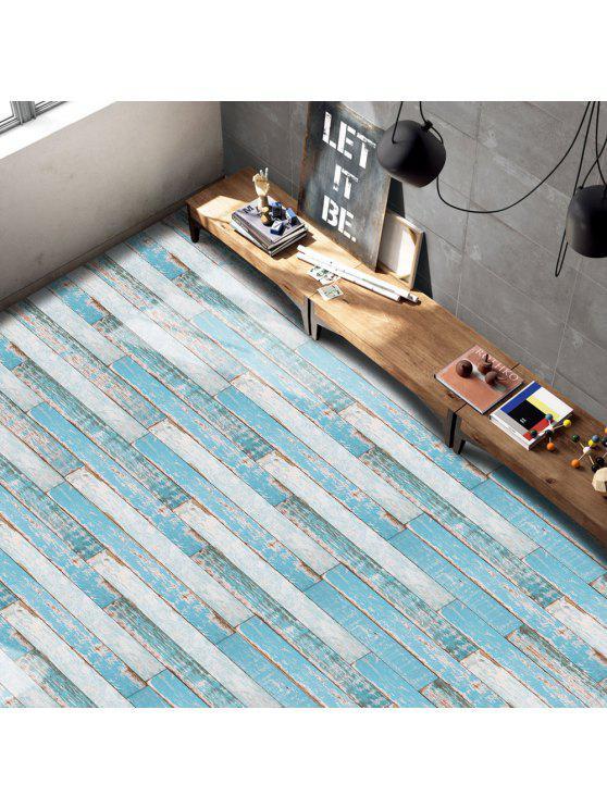 خمر فو الخشب الحبوب الطابق ملصق ل ديكور المنزل - فيروز