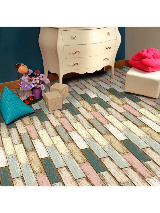 ورق لأرضية الغرف بنمط الخشب ذاتي اللصق - ملون