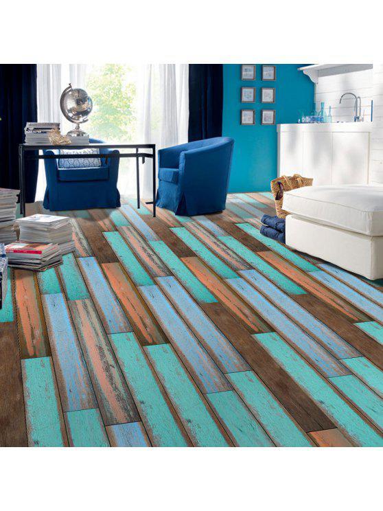 ديكور المنزل خمر الخشب الحبوب نمط الطابق ملصق - فيروز