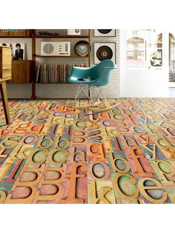 ديكور المنزل الخشب الحبوب إلكتروني الكلمة ملصقا - ملون
