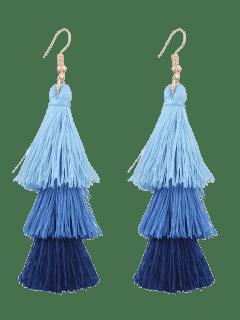 Boucles D'oreilles En Forme De Crochet - Bleu
