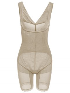 Open Bust Corset Bodysuit Body Shaper - Complexion Xl