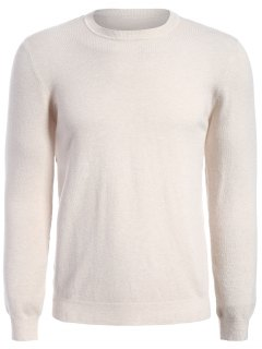 Long Sleeve Pullover Knitwear - Apricot 3xl