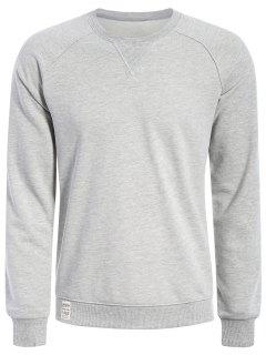 Mens Terry Pullover Sweatshirt - Gray Xl