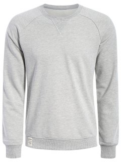 Mens Terry Pullover Sweatshirt - Gray L