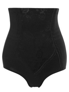 Tummy Control Shapewear Corset Briefs - Black L