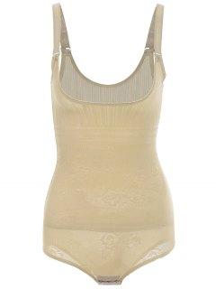 Open Bust Corset Body Shaper Bodysuit - Complexion M