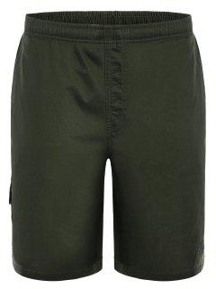 Side Pockets Cargo Bermuda Shorts - Army Green L