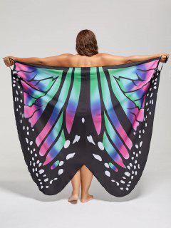 Plus Size Butterfly Wrap Cover Up Dress - 4xl