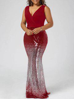 Robe Sirène Grande Taille - Rouge 5xl
